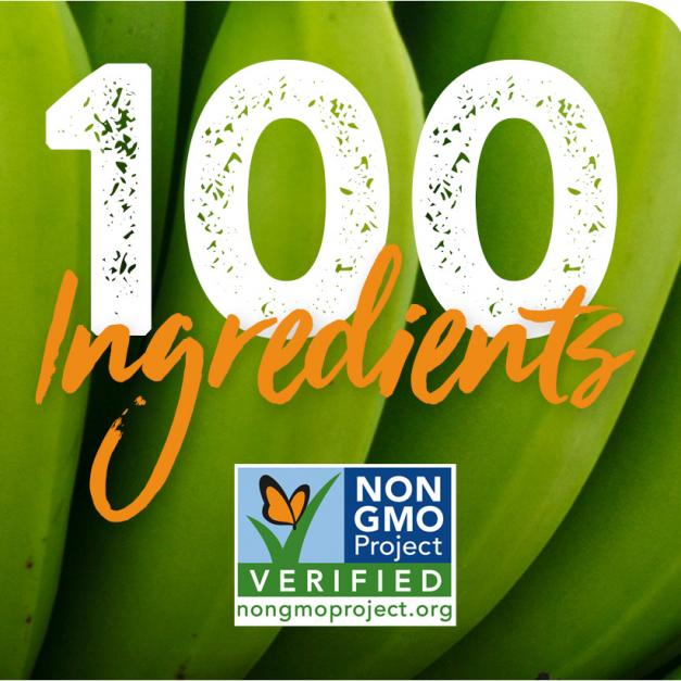 100 Non-GMO Verified Ingredients